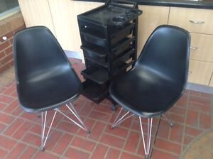 Salon chairs and trolley Carrum Downs Frankston Area Preview