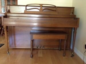 Cecilian upright piano   Piano and bench for sale