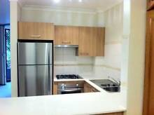 TEAK LAMINATED KITCHEN STAINLESS HANDLES, MICROWAVE, DOUBLE SINK North Avoca Gosford Area Preview