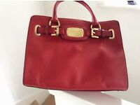 Ladies Red Michael Korr Bag as new , medium size, used only once