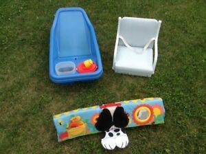 Bain pour bébé / siège de table pour enfant / apis de jeux