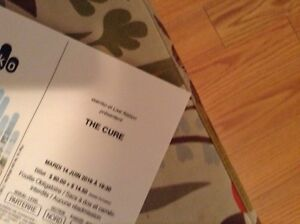 The Cure - Centre Bell -14 juin - 2 tickets
