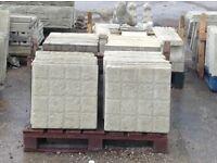 Cobble effect 450 x 450 concrete slabs