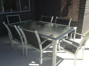 7 piece outdoor dining table and chairs setting Forster Great Lakes Area Preview