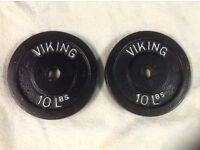 4 x 10lb Viking Standard Cast Iron Weights