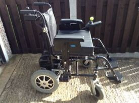 ENIGMA ELECTRIC WHEELCHAIR WITH CARER / USER CONTROLS **NEW BATTERIES** ABSOLUTE BARGAIN