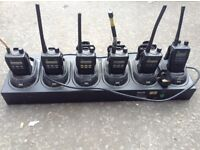 Set of 6 vhf radios with spare batteries