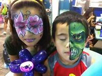 Face Painting, Balloon Twisting, Airbrush Tattoos