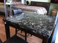 5 Piece Marble Top Dinette