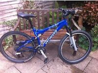 Specialized FSRXC mountain bike Sky blue excellent condition