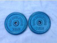 2 x 7.5kg Bodysculpture Standard Cast Iron Weights