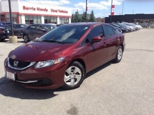 2015 Honda Civic LX A/C, FUEL SAVER,
