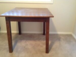 Vintage 80cm square timber table height 75cm Penrith Penrith Area Preview