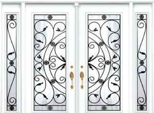 Double Front Entry Door Two Sidelights 9