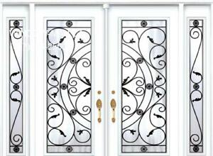 Entry Front TwoSidelights Door Double  Installation