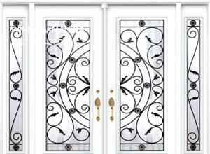 Front TwoSidelights Entry Double Door  Save on Heat and Air
