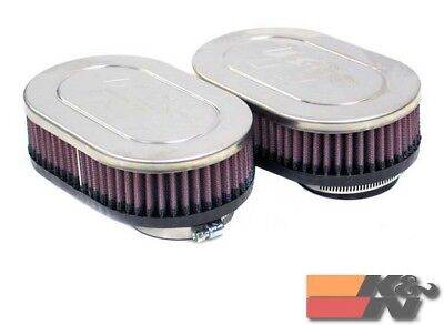 K&N Uni Clamp-On Air Filter For 2-1/8DUAL,4X6.25OD,1.75H (2 PER BOX) RC-2382