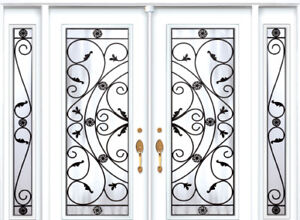 Double Front Entry Door Two Sidelights 8