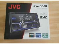 JVC KW-DB60 stereo and 2 x integrator 6 triaxial speakers only used for 2 days