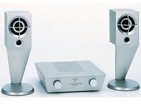 Sony SRS-Z1 Active Speaker System - retro - aluminium