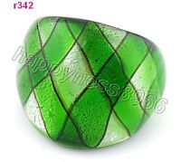 handwork 3D trellis diagram Murano Lampwork art Glass ring