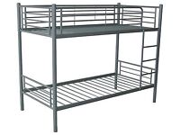 Brand New Metal Sturdy Quality Appollo Bunk beds in White Or Silver FREE delivery