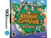 NINTENDO DS ANIMAL CROSSING WITH COMPLETE MANUAL AND CARTRIDGE