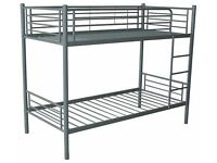 Great Value Sturdy Metal Bunk bed frame in white Or Silver Boxed New FREE delivery