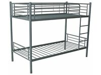 Brand New Boxed Quality Sturdy Metal Bunk beds in white Or Silver FREE delivery