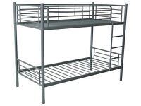 Brand NEW Boxed Quality Metal APPOLLO Bunk bed in white or Silver FREE delivery