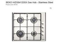 Stainless Steel Beko Gas Hob (new, still in packaging)
