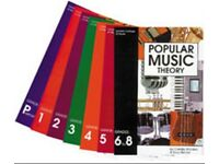 Popular Music Theory books grades Preliminary to 8