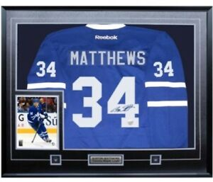 Auston Matthews Authographed Signed Framed Leafs Jersey