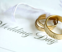 $125 Weddings Hamilton-Niagara-GTA (en francais; Equal Marriage)