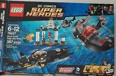 LEGO SET 76027 BATMAN SUPER HEROES BLACK MANTA DEEP SEA STRIKE 100% COMPLETE