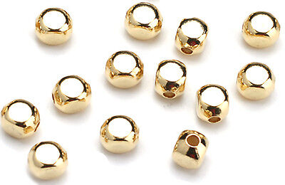 100 Gold Plated Roundish Square Beads Too Cute 5MM