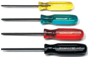 bondhus square screwdriver robertson key ball end balldriver lifetime warranty ebay. Black Bedroom Furniture Sets. Home Design Ideas