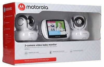 Motorola 2-Camera Video Baby Monitor 3.5 Inch Color Screen MBP36S-2 - BRAND NEW!