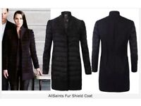 AllSaints Fur Shield Coat UK 10 EU 38