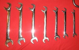 Snap On Set of 7 4-way Angle Head Open End Wrenches