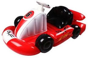 Inflatable Red Kart Racing Car with Steering Wheel For Nintendo Wii