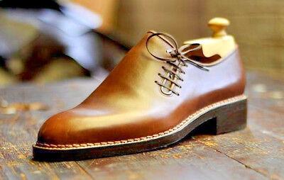 New Handmade Men French Luxury Unique LaceUp Leather Dress Shoes, Männerschuhe ()
