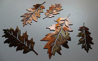 Metal Wall Veined Oak Leaves