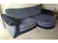 4 Seater Lounger Sofa with Footstool