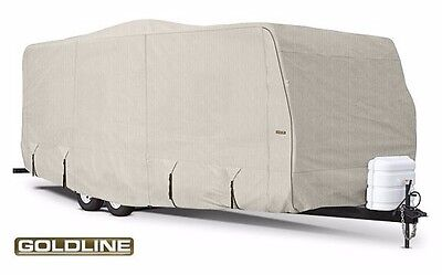 Goldline Premium RV Cover Travel Trailer Motor Home Fits 42-44 ft Tan