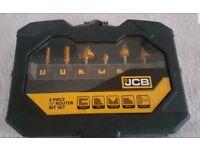 JCB 6 piece quarter inch router bit set