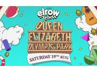 ELROW FESTIVAL SATURDAY 19TH AUGUST DAY TICKET - FACE VALUE - SOLD OUT EVENT