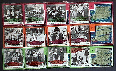 3 Stooges Va  Lottery Scratched Ticket Set Of 12 Different