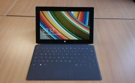Microsoft Surface with keyboard, Quad core processor, 64GB SSD Tablet pro with OFFICE software