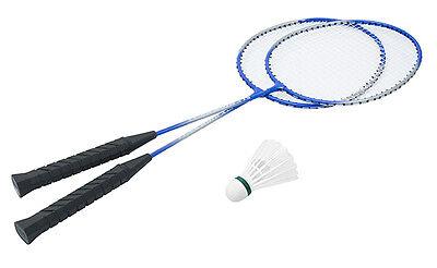 Hudora Badminton / Federball - Set Fly High RS-11 mit 2 Stahlschläger und 1 Ball